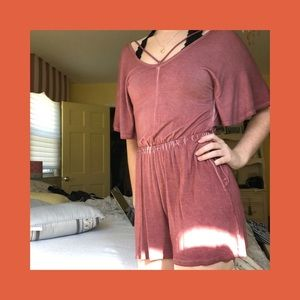 Red American Eagle romper
